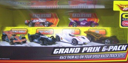 Hot Wheels Speed Racer Grand Prix 6 Pack 1:64 Diecast (Racer Speed Wheels Hot)
