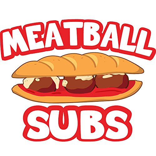 "MEATBALL SUBS 24"" Concession Decal sign cart trailer stand sticker equipment"