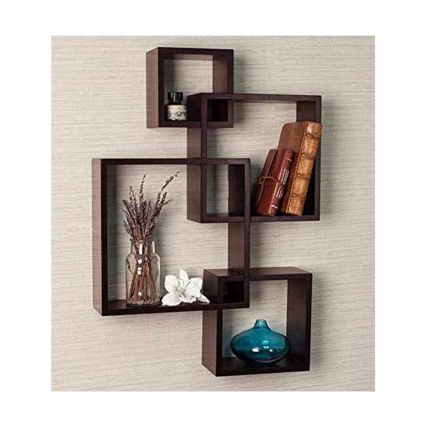 Best Square Cut Wood Wall Shelf for Home India 2021