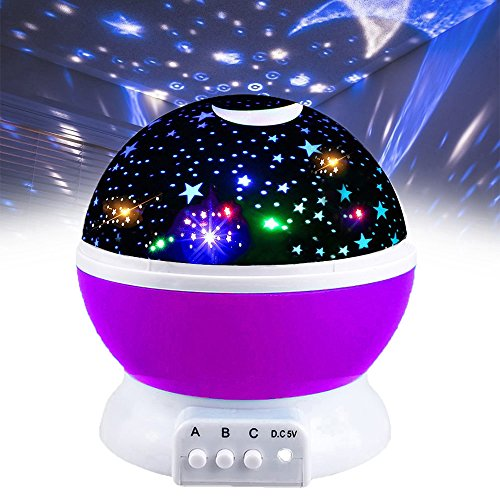 Our Day Toys for 2 3 4 5 6 Year Old Boys, Night Light Moon Star Best Gifts for Kids Toys for 7-12 Year Old Boys 3-12 Year Old Boy Girl Gifts Toys for 3-12 Year Old Girls Purple ODUSXK06 by Our Day