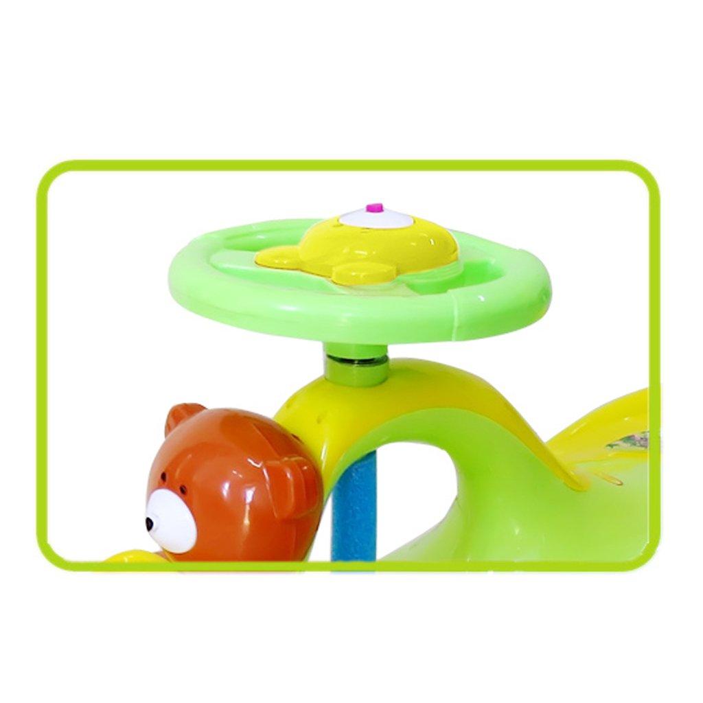 Silent Silent auf Fahrt auf Silent Spielzeug, Alter 3 Jahre und höher, keine Batterien, Zahnräder oder Pedale, Twist, Turn (Cartoon Bär) (Farbe   Silent wheel) 05b2f9
