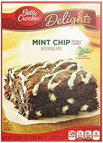 Betty Crocker Delights Mint Chip Brownie Mix 17.3 oz. Box (pack of 12) - Betty Crocker Chips