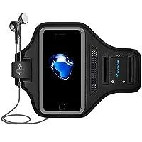 LOVPHONE iPhone 7/8 Plus Brazalete Sport Running Gym Gym Sportband para Apple iPhone 8 Plus /iPhone 7 Plus /iPhone 6 Plus /6s Plus, con soporte para llaves y ranura para tarjeta, resistente al agua (gris)