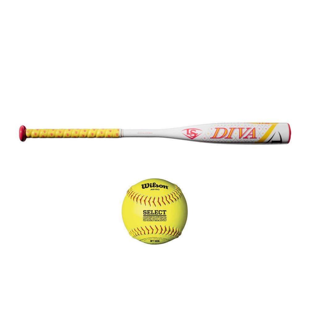 47395bb9eb88 Amazon.com : Louisville Slugger 2018 Diva Fastpitch Softball Bat (30