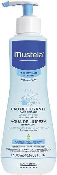 Água de Limpeza sem Enxágue do Rosto ao Bumbum, Água Micelar Suave Desde o Nascimento, Mustela Bebê, Azul, Médio/300 ml