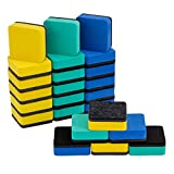 ANPHSIN 24 Pieces Magnetic Whiteboard Erasers- 2x2'' Mini Chalkboard Erasers Cleaner for Home Office and School