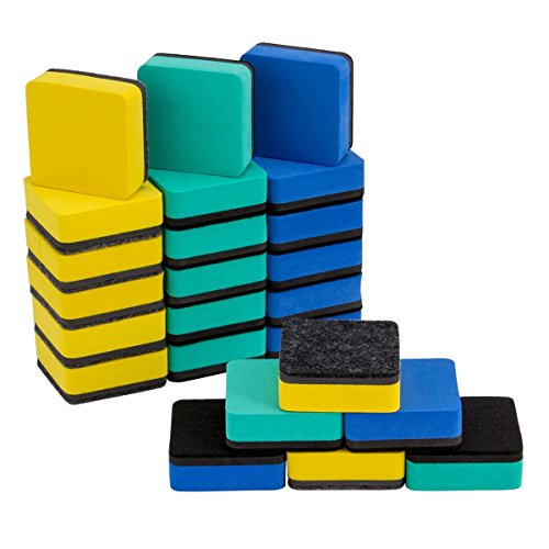 ANPHSIN 24 Pieces Magnetic Whiteboard Erasers- 2x2