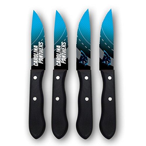 Sports Vault NFL Carolina Panthers Steak Knive Set]()