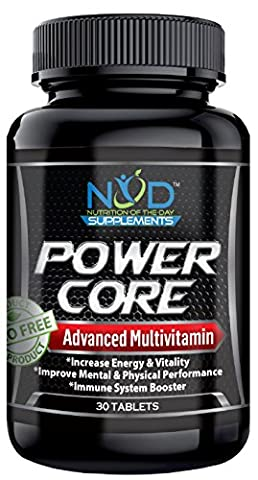 NOD Supplements – Best Complete Once Daily Multivitamin Supplement for Men, Women – Increase Energy & Boost Nutrition – Natural Whole Food Vitamins, 42 Fruits & Vegetables, Non-GMO, Made in USA-30 (Black Thorn Usa Water Bottle)