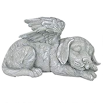 bda4d36f789 Design Toscano Dog Angel Pet Memorial Grave Marker Tribute Statue, 25.5 cm,  Polyresin, Stone Finish
