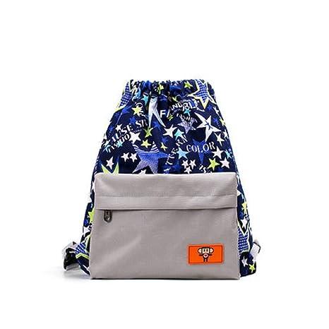 ZHRUI Swim Gym Sports Dance Bag Mochila con Cordones Saco de Dormir con Cinturones Resistente al