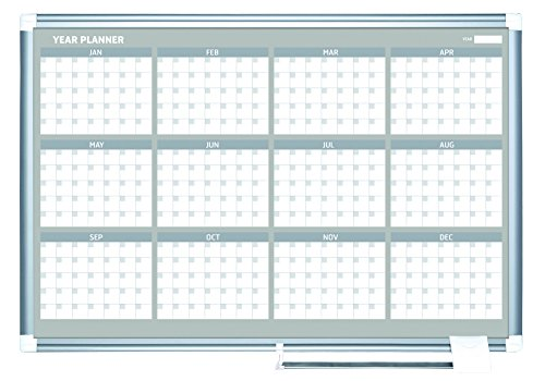 Bi-Silque MasterVision Planning Board Magnetic Dry Erase ...