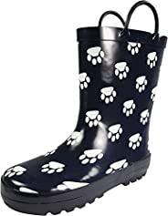 NORTY Waterproof Rubber Rain Boots for Girls & Boys - Toddlers & Big K