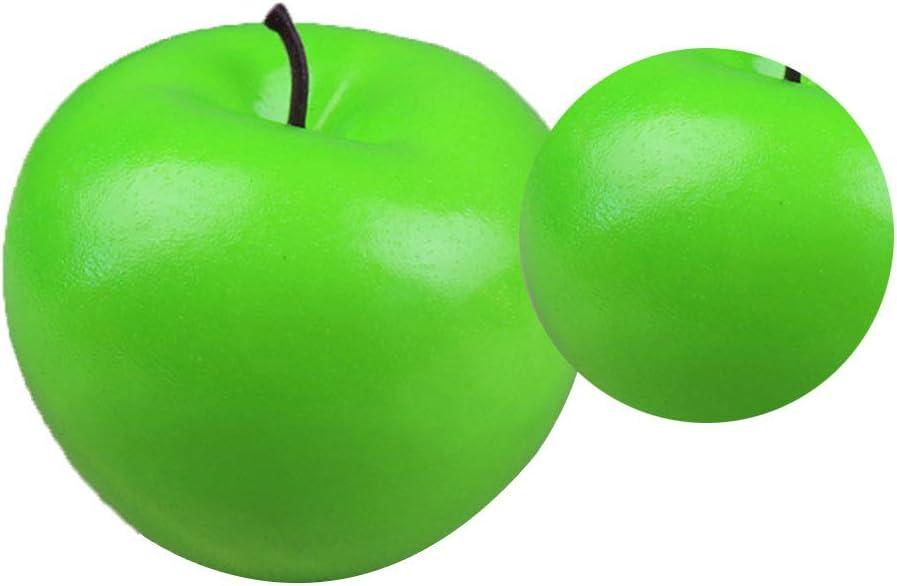 6pcs Pommes de simulation de fruits r/éalistes Accueil Maison D/écoration daffichage pour Peintures Nature morte Cuisine D/écor jaune