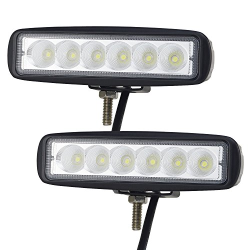 6 in LED Work Light Bar Willpower 2Pcs 18W Flood LED Lamp for off Road High Power ATV Jeep 4x4 Tractor off Road Light Fog Driving Bar Rree Truck SUV Car IP67 Waterproof 12-24V