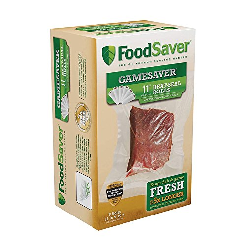 FoodSaver GameSaver 11″ x 16′ Vacuum Seal Roll with BPA-Free Multilayer Construction (5 Units)