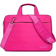 Laptop Shoulder Bag for 13 - 14 Inches Laptop Computer Awland Nylon Water Resistant Macbook Air / Pro w Retina Shoulder Carry Bag Briefcase Laptop Messenger Notebook Sleeve Case Cover Handbag - Pink