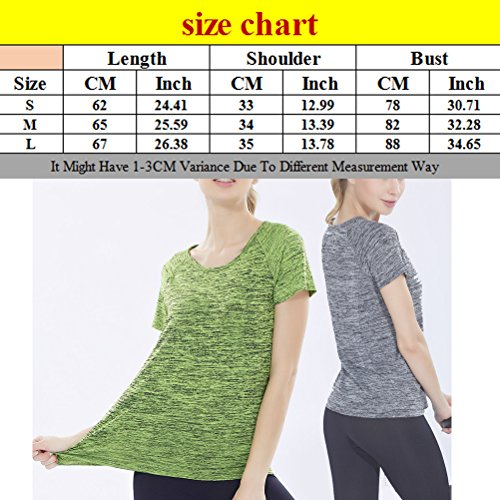 Zhhlinyuan Fashion Womens Casual Soft Tops Sports Fitness Running Workout Quick Dry T Shirts Blue