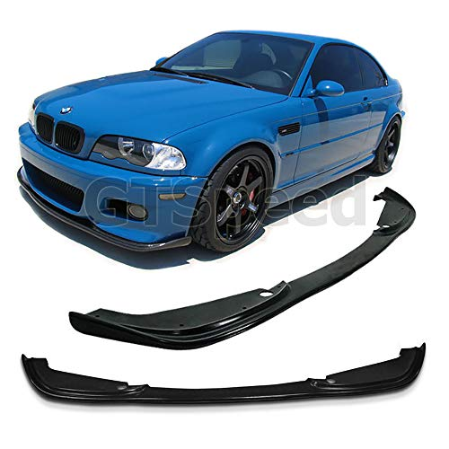 Front Lip E46 (GT-Speed for 2001-2006 BMW E46 M3 Bumper Only H-Style Front PU Bumper Add on Lip (Not Compatible With Aftermarket M3 Bumper))