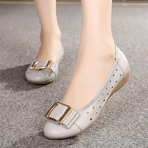 shoes leather 37 shoes comfort shoes flat soft Ladies casual shoes EU work slip pregnant women non FLYRCX bottom tzR0qa0w