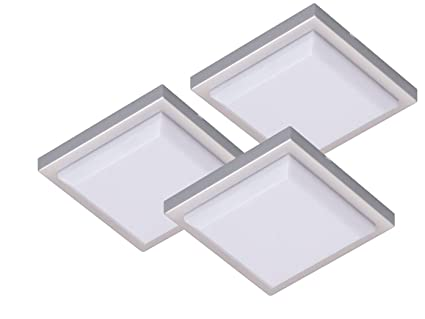 Set luci led design quadrato extra piatto ideale per armadi
