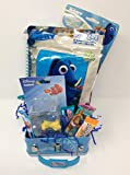 Happy Easter Basket Kids Toddlers Gift Children Party Pre Made Eggs Goodies Candy Baskets Collectible Game -Dory Fish (MS)