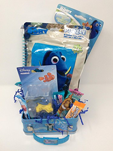 Happy Easter Basket Kids Toddlers Gift Children Party Pre Made Eggs Goodies Candy Baskets Collectible Game -Dory Fish (MS) by Easter and Birthday Basket