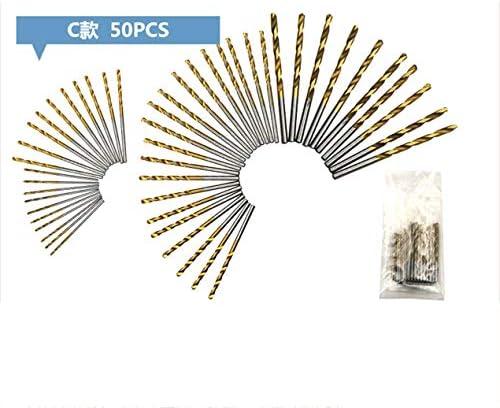 HSSスチールコバルトミニツイストドリルビットセットストレートシャンクホールオープナーパワードリルパンチングツールDIY木工用-ゴールド