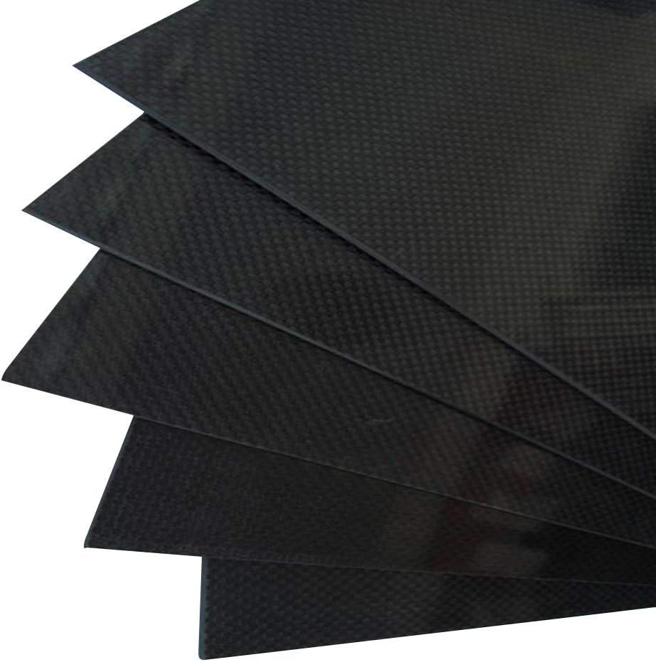 SZQL 3K Carbon Fiber Plate Sheet 400mm x 500mm x 0.5mm Plain Weave Carbon Fiber for DIY Drone Frame Etc,400x500x4mm