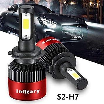 2x S2 H7 72W 8000LM LED Light Headlight Car Hi//Lo Beam Bulb Fog Lamp Kit 6500K