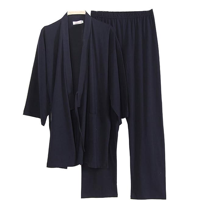 Fancy Pumpkin Software para Hombre Estilo japonés Kimono Pijama Traje Vestido Conjunto [L, A3