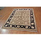 "New 5X8 Wool & Silk Hand-Knotted 5'10"" X 7'10"" Fine Wool & Silk Carpet"