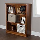 South Shore Morgan Small 3-Shelf Bookcase - Adjustable Shelves, Morgan Cherry