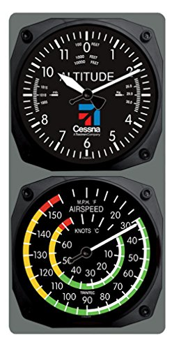 Trintec Cessna Aviation Altimeter Altitude Clock and Airspeed Thermometer Console Set