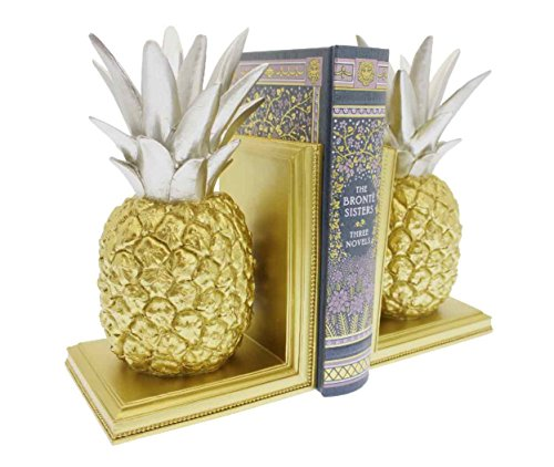 Streamline Pineapple Split - Decorative Bookend Set