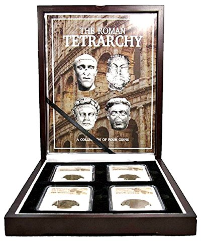 IT 286 The Roman Tetrarchy:A Collection of Four NGC-Slabbed Coins With Beautiful Box, Story Card And Certificate -