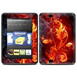 "Kindle Fire HD (fits only 7"" previous generation) Skin Kit/Decal - Flower of Fire"