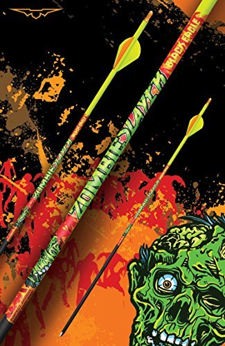 Black Eagle Zombie Slayer Fletched Carbon Hunting Arrows - 12 Pack (350/.001 Crested)