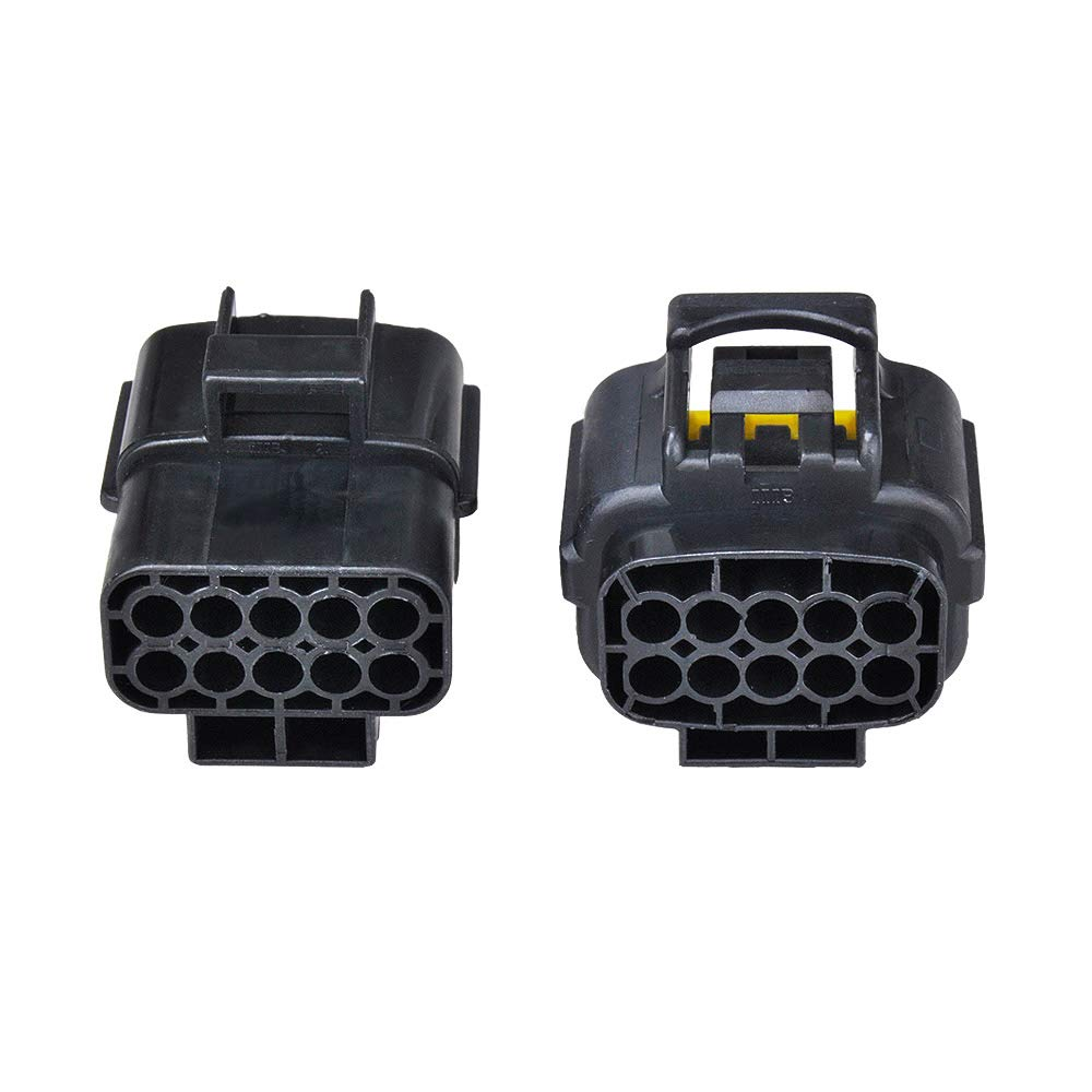 10 Pins MUYI 5 sets Wire Cable Connector Plug Insert in 10-pins 1.8mm Series Waterproof Electrical kits Car HID with Terminal DJ71016Y-1.8-21//11