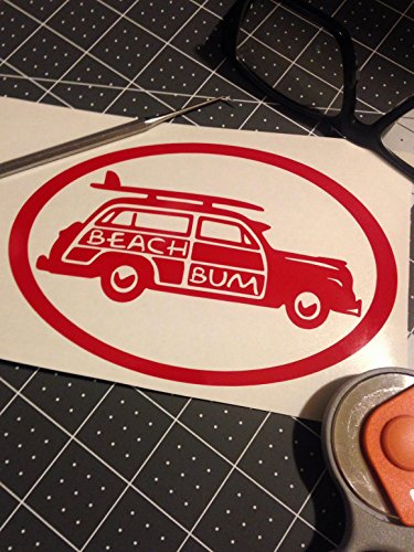 Beach Bum | Surf Woody | 6x6 inch vinyl art decal - Classic Surf Collection