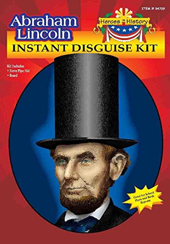 [Heroes in Patriotic History Instant Disguise Set - Abe Lincoln] (Women In History Costumes)