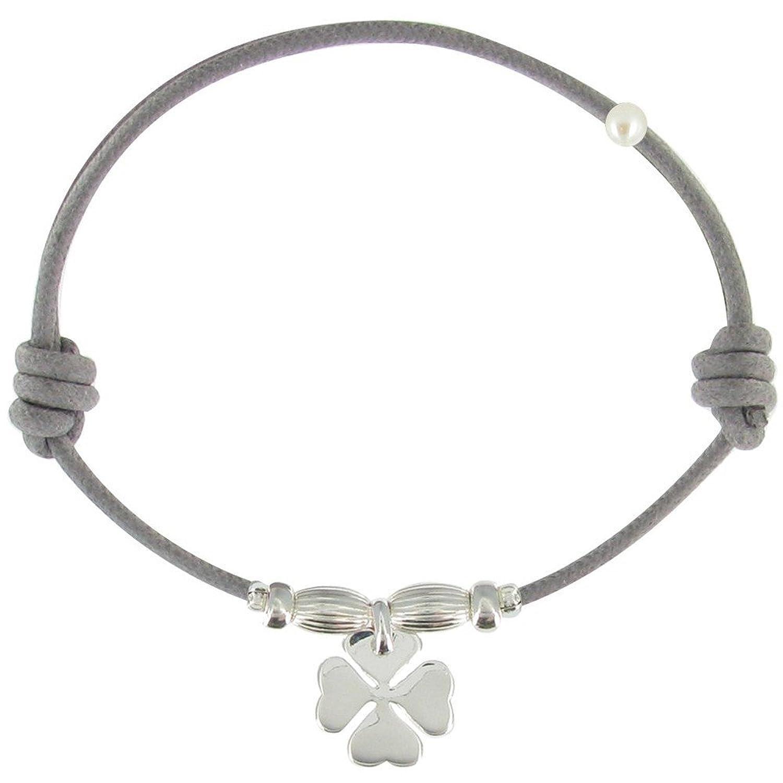 Les Poulettes Jewels Sterling Silver Lucky Clover Bracelet l3qOp