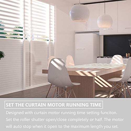 NOTSEK Commutateur Rideau Volet Roulant WiFi Compatible avec Alexa//Google Home Minuterie Interrupteur de Stores pour Volets Roulants Moteur Blanc Interrupteur Volet Roulant Alexa