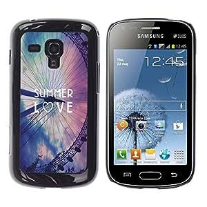 Dragon Case - FOR Samsung Galaxy S Duos S7562 - Ilove summer - Caja protectora de pl??stico duro de la cubierta Dise?¡Ào Slim Fit