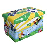 WoneNice Kids Children's Storage Toy Box, Boys Girls Books Chest Clothes Seat Foot Stool