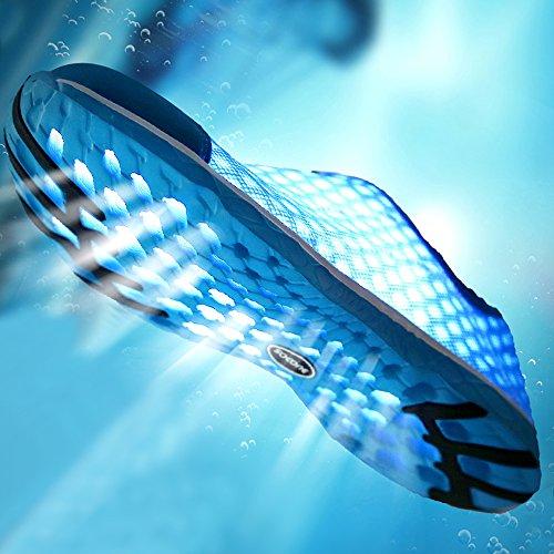 Mxson Frauen Slip On Sneaker Mesh Casual Sport Walking Strand Aqua Schwimmbad Wasser Schuhe Himmelblau