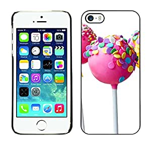 iBinBang / Funda Carcasa Cover Skin Case - Lollipop Blanco Candy Sweet Pink - Apple iPhone 5 / 5S