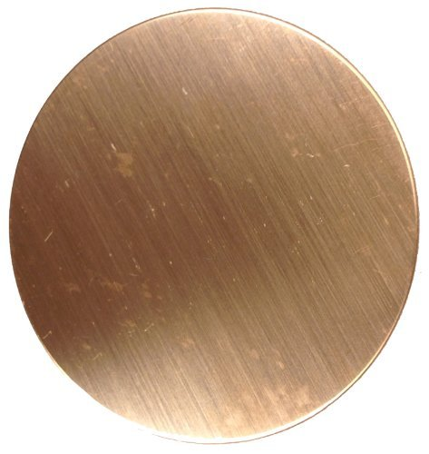 RMP Stamping Blanks, 1-1/2 Inch Round, 16 Oz. Copper 0.021 Inch (24 Ga.) - 10 pack