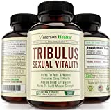 Tribulus Terrestris Sexual Vitality for Men & Women. All Natural Sex Drive Enhancer & Testosterone Booster. Metabolism Supplement That Builds Muscle Fast. Made in the USA