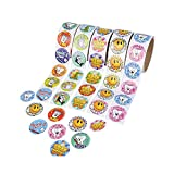 500Pc Dental Roll Sticker Asst (5Rl/Un) (With Sticky Notes)